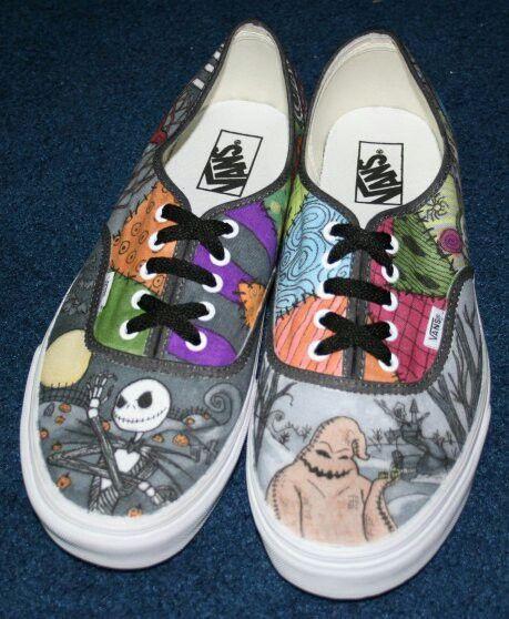 Nightmare Before Christmas Shoes Diy.Nightmare Before Christmas Vans The Nightmare Before