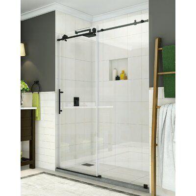 Aston Coraline 60 X 75 Single Sliding Frameless Shower Door In