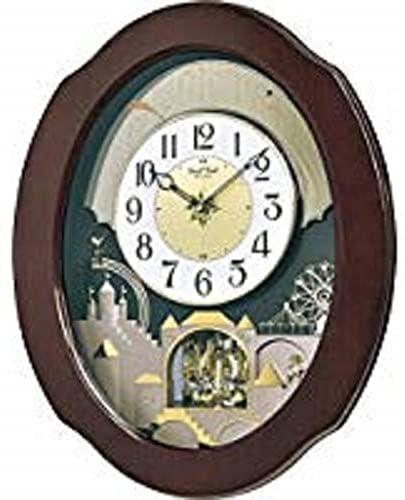 New Rhythm Clocks Grand Time Cracker Musical Motion Clock Brown Online Shopping Looknewclothing In 2020 Rhythm Clocks Clock Glass Fireplace Screen