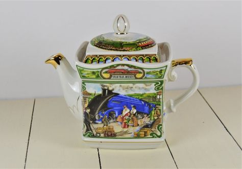 Sadler STEAM TRAIN JOURNEYS Teapot, Golden Age of Travel, James Sadler, Made in England