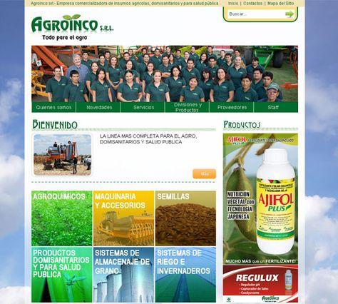 En vista de ampliar su participación en el mercado y ampliar su cartera de clientes, AGROINCO nos confía la elaboración de su sitio Web.