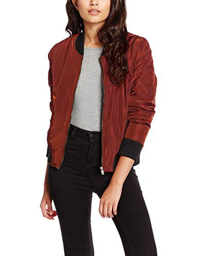 cheaper eaf62 d7e58 ONLY Damen Jacke onlALUNA BOMBER JACKET OTW Braun (Cherry ...