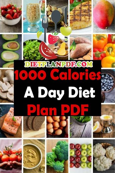how many carbs in a 1000 calorie diet