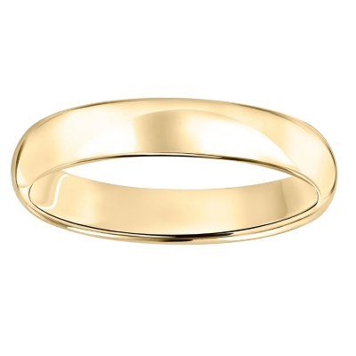 4mm Comfort Fit Wedding Band In 14k Gold Wedding Bands Gold