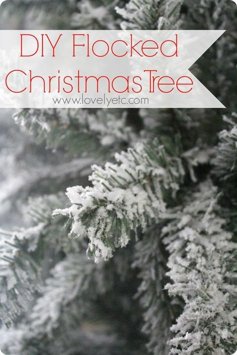 DIY flocked christmas tree - turn any real or artificial tree into a snowy masterpiece