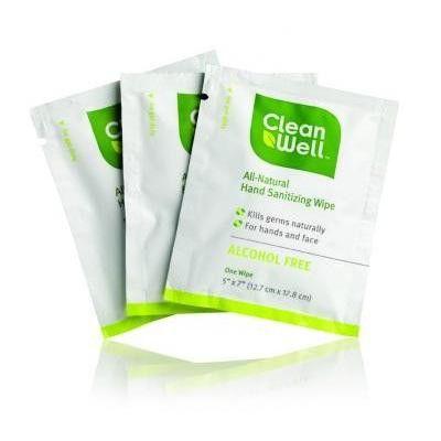 Cleanwell Hand Sanitizing Individual Wipe 1x40 Ct Natural Hand