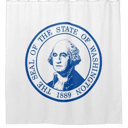 Washington State Seal Shower Curtain Shower Gifts Diy Customize