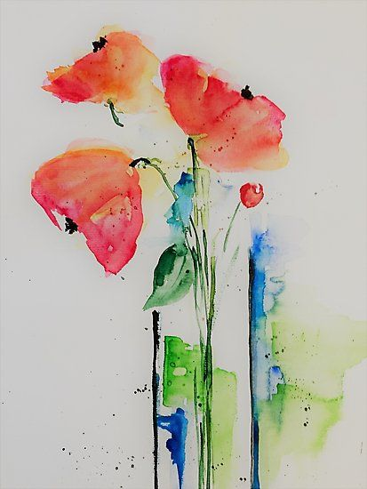 Blumen In Der Vase Fotodruck In 2020 Art Prints Watercolor
