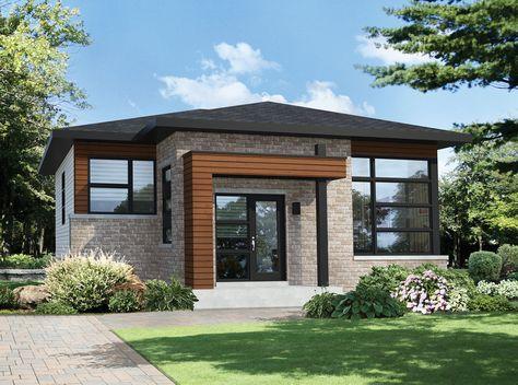 Plan 80870PM 2 Bed Modern Home with Sunken Entrance Modern