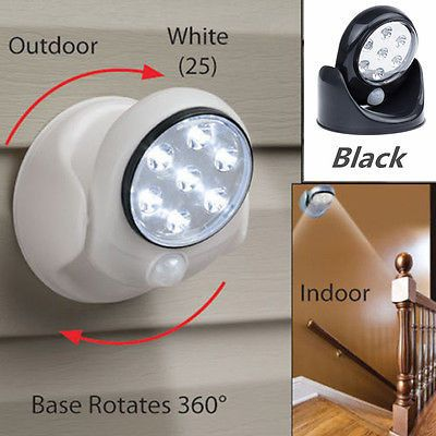 7 led swivel motion sensor detector light indoor outdoor garden 7 led swivel motion sensor detector light indoor outdoor garden security lamp bb products pinterest products mozeypictures Images