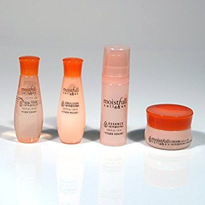 10 Amazon Com Etude House Moistfull Collagen Skin Care Kit Travel Size Toner Emulsion Essence Cre Collagen Skin Care Moistfull Collagen Skin Care Kit