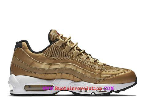 Nike Air Max 95 Premium QS Chaussures de Sports Nike Pas Cher Pour Homme Or  918359-700-Voir Nike hommes 6e11157aa41