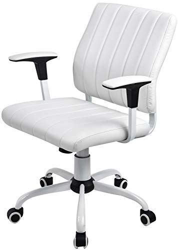 Gtpoffice Desk Chair Ribbed Conference Office Chair Modern Swivel