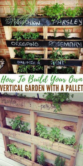 Comment Construire Votre Propre Jardin Vertical Avec Une Palle Avec Comment Construire Jardi Jardin Vertical Jardins Verticaux Jardins Potagers Verticaux