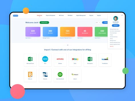 SaaS Web Application / Finance