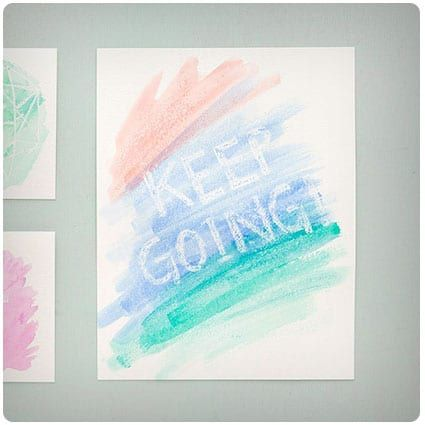 How To Make Watercolor Cards That Reveal A Secret Message Vbs