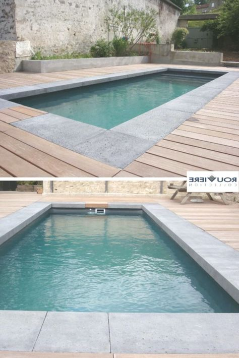 Concrete Wedge Pool Water Features House In The Woods Wooden