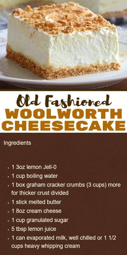 No Bake Classic Woolworth Cheesecake In 2020 Food Lemon Recipes Dessert Recipes