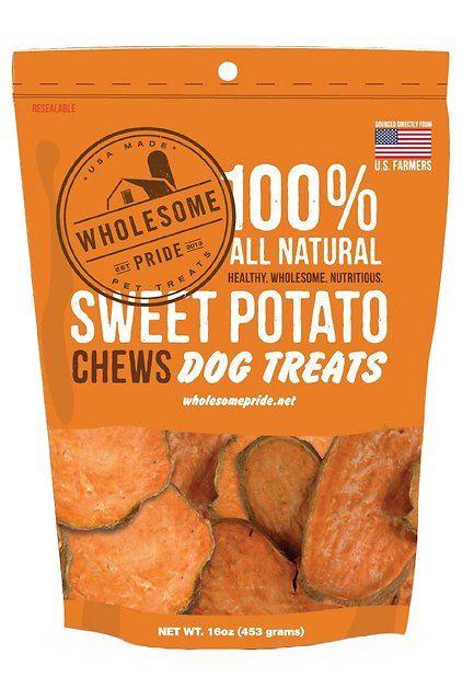 Wholesome Pride Pet Treats Sweet Potato Chews Dog Treats 16 Oz