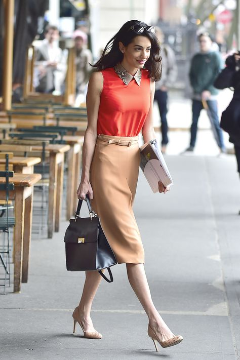 Outfits modest for business women 2019 05 amal clooney, george clooney, bus