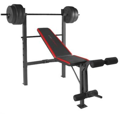 Cap Strength Weight Bench With Weights Adjustable Weightlifting Press 100 Lb Set Ebay In 2020 Weight Benches Weight Bench Set Weight Set