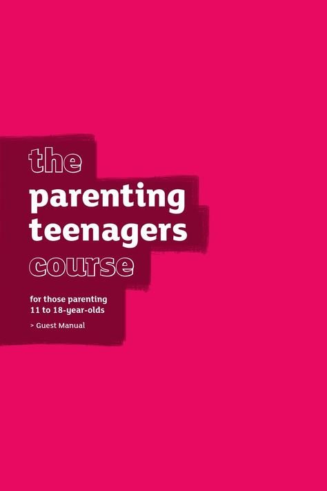 The Parenting Teenagers Course Guest Manual by Alpha USA