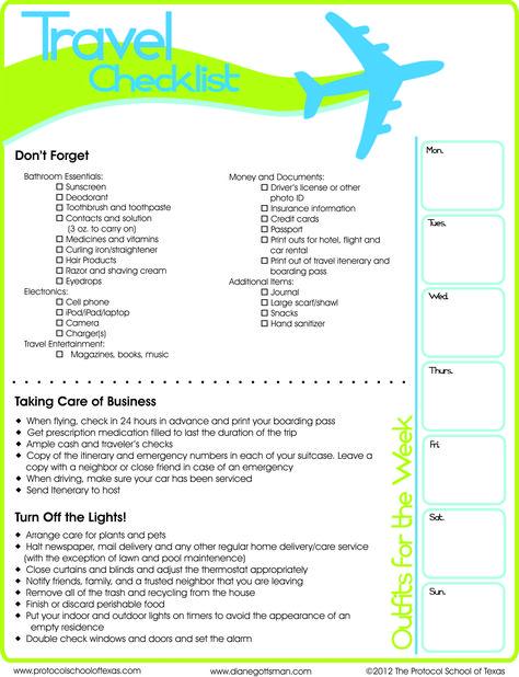 Travel Checklist Printable  Essentials Vacation And Wanderlust