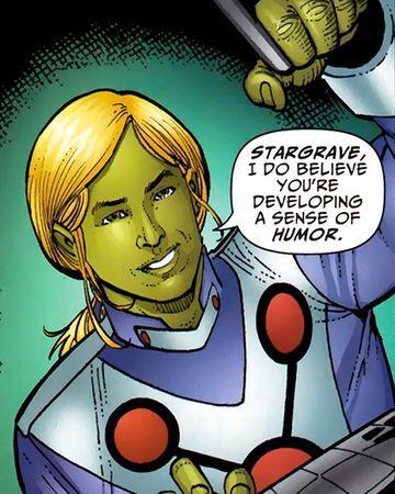 Lyrl Dox aka Brainiac 3 is the genius son of Brainiac 2