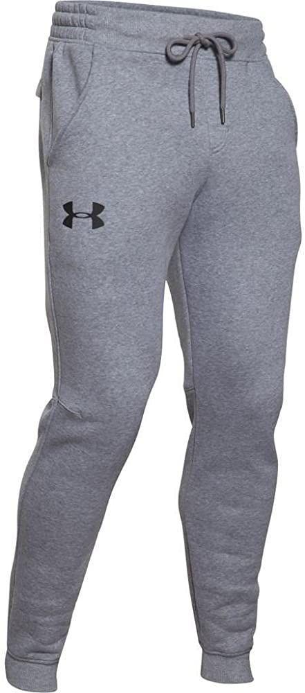 fumar Viento fuerte consenso  Amazon.com: Under Armour Pantalones para trotar de tela polar Rival, para  hombres, Gris, XL: UNDER ARMOUR:… | Under armour joggers, Fleece joggers, Under  armour men