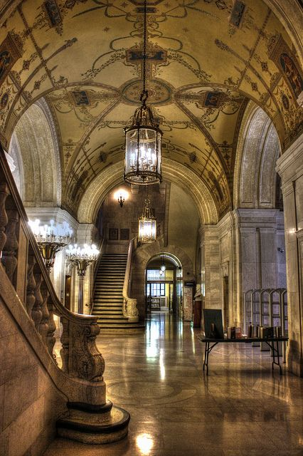 Cathedral Of The Literary, The Cleveland Public Library, 1925 Walker & Weeks, architects
