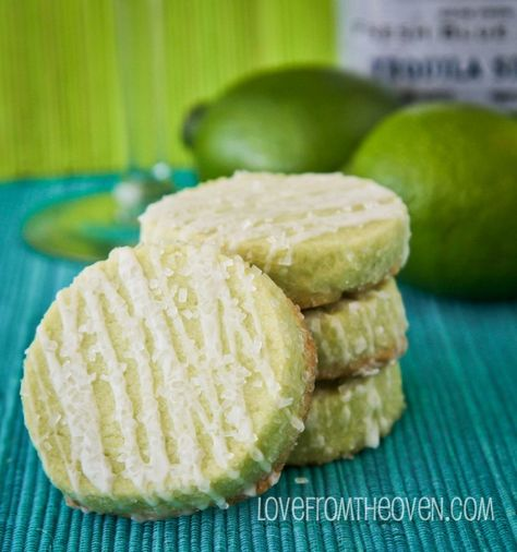 Margarita Cookies With Salty Sweet Tequila Glaze by Love From The Oven