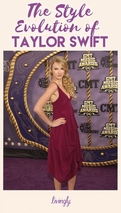 After making her foray from country into pop music, it makes sense that the leggy star would undergo a style transformation as well. Here, check out just how much her style has evolved, starting from her roots way back when in 2007. Click through to check out T. Swift's total style evolution.