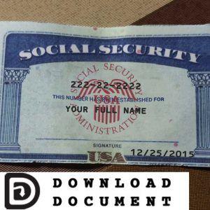 Social Security Card 16 In 2020 Psd Templates Templates Cards