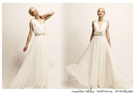 vestidos de novia de corte romano #boda #romana #vestidos #novia