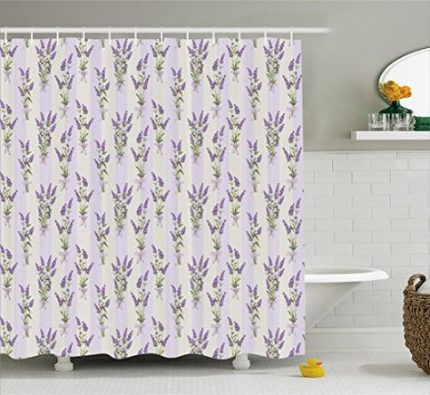 Bathroom Rugs Ideas Lavender Shower Curtain Set By Ambesonne Stripes And Flowers With Ribbons Rom Lavender