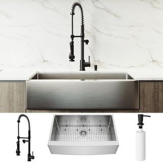 Vigo 36 Inch Bedford Farmhouse Apron Front Kitchen Sink And Zurich