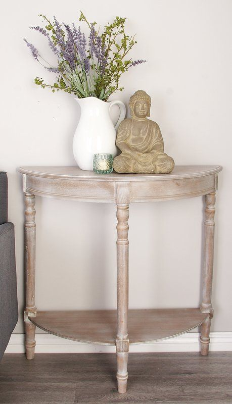 Wood Half Round Console Table Half Moon Console Table Console