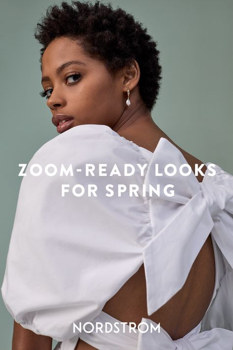 Make a sweet virtual first impression for your next Zoom date or happy hour with above-the-waist details that look as cute online and IRL.