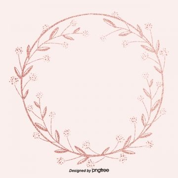 Pink Gold Wreath Border Delicate Decorative Border Background Luxurious Shading Gold Png Transparent Clipart Image And Psd File For Free Download Rose Gold Brushes Pink Floral Background Floral Wreath Watercolor