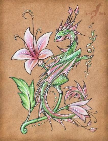 Super Flowers Drawing Pencil Deviantart 52 Ideas Drawing Flowers Tattoos In 2019 Dragon Art Drawings Cute Dragons