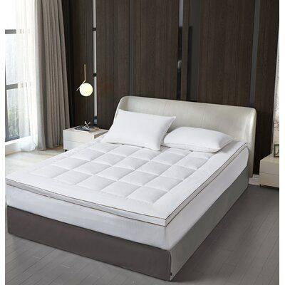 Elle Decor 2 Cotton Fibre Mattress Pad Topper Cal King By Elle Decore Bed Size California King In 2020 Elle Decor