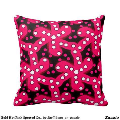 Decorative Throw Pillow, Hot Pink Coral