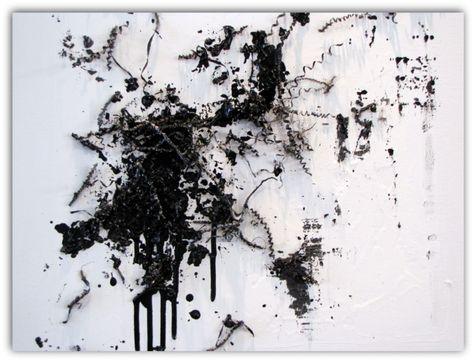 No Colors Peinture Abstraite Noir Et Blanc Art Noir Et