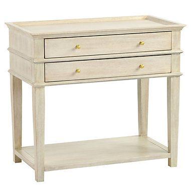 Grace 2 Drawer Open Shelf Side Table Open Shelving Ballard Designs Bedside Tables Nightstands