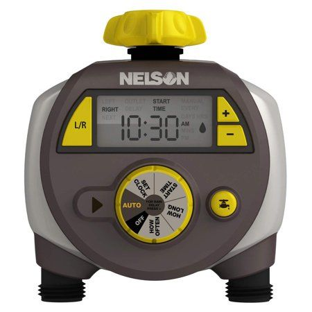 Nelson 56612 Sprinkler w/ Double-Outlet LCD Timer
