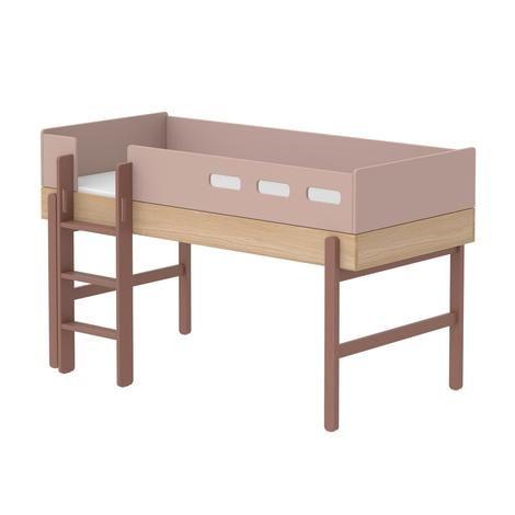 Flexa Mittelhohes Bett Popsicle Aus Holz 90x200 Cm Mit Gerader