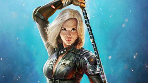 Black Widow 4K HD Avengers Infinity War Wallpaper