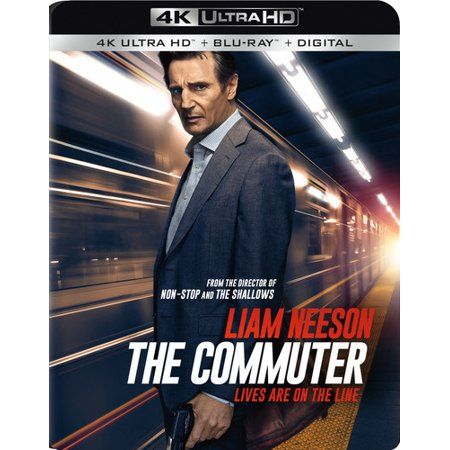 The Commuter 4k Ultra Hd Blu Ray Walmart Com In 2021 Blu Ray Liam Neeson Blu