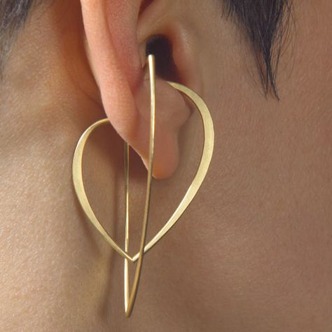 "Earrings | Kathrin Sättele. ""Wings"". 18k/750 Gold"