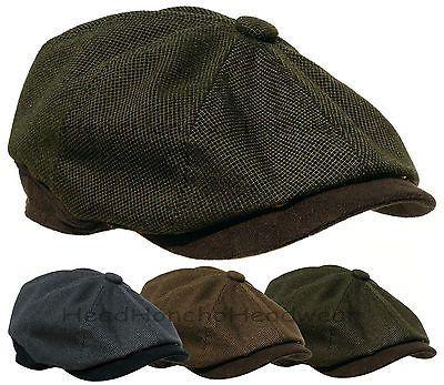 Flat hat Ivy Men/´s with Peak Lining Autumn-Winter Stetson Muskegon Gatsby Cap Men
